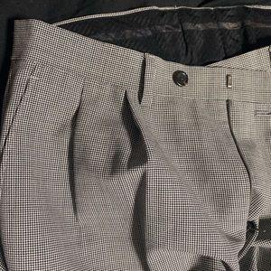 Black and white polo Ralph Lauren checkered slacks
